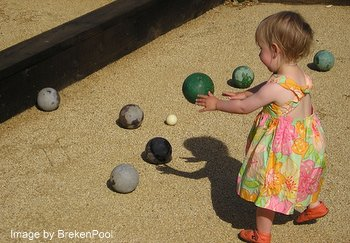 Playing Bocce