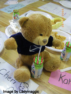 Teddy Drinking
